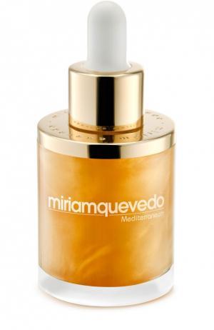 Масло для волос с золотом Miriamquevedo. Цвет: бесцветный
