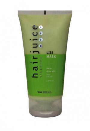 Маска для разглаживания волос Brelil Professional. Цвет: зеленый