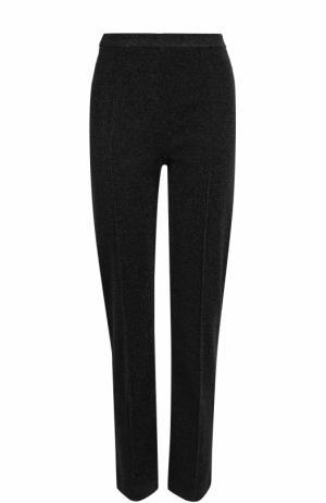 Укороченные брюки прямого кроя со стрелками By Malene Birger. Цвет: черный