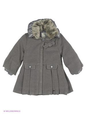 Пальто Mayoral. Цвет: темно-серый