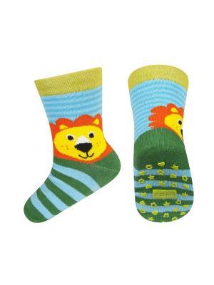 Носки детские SOXO. Цвет: зеленый, голубой, оранжевый