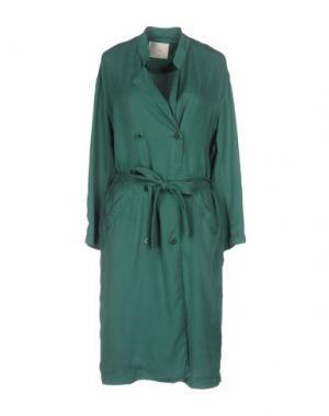 Легкое пальто DES PETITS HAUTS. Цвет: зеленый