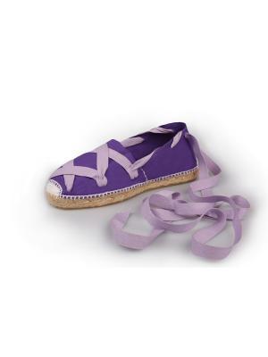 Эспадрильи женские La casa de espadrilles Classic Laces Purple. Цвет: фиолетовый