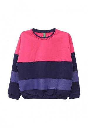 Свитшот United Colors of Benetton. Цвет: фиолетовый