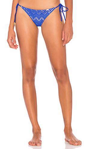 Низ бикини в бразильском стиле Luli Fama. Цвет: синий