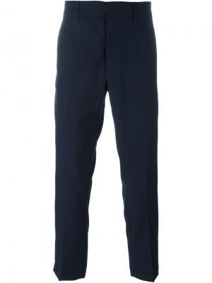 Классические укороченные брюки Dondup. Цвет: синий