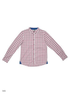 Рубашка United Colors of Benetton. Цвет: красный, белый