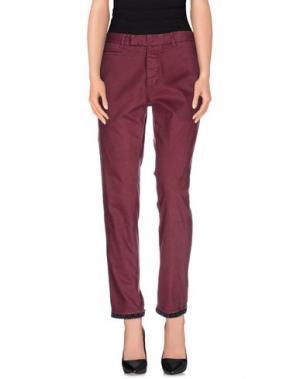 Повседневные брюки G2CHOICE. Цвет: пурпурный