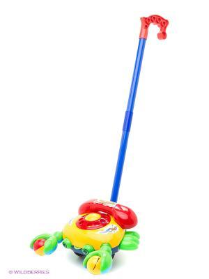 Каталка на палке, Телефон Amico. Цвет: желтый, красный