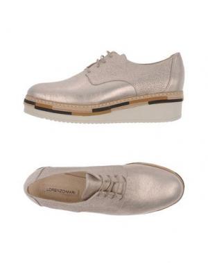 Обувь на шнурках LORENZO MARI. Цвет: голубиный серый