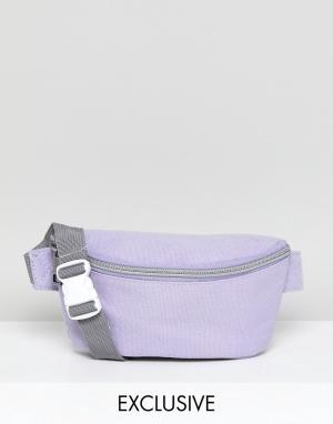 Mi-Pac Эксклюзивная сумка-кошелек на пояс сиреневого цвета. Цвет: фиолетовый