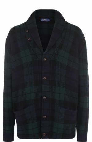 Шерстяной кардиган с шалевым воротником Polo Ralph Lauren. Цвет: зеленый
