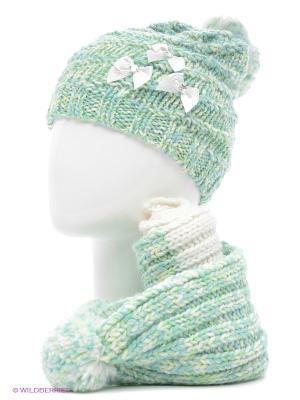 Шапка+шарф Marhatter. Цвет: светло-зеленый