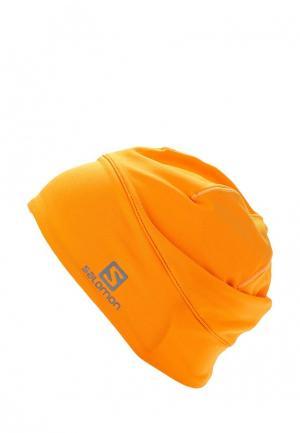 Шапка Salomon. Цвет: оранжевый