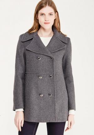 Пальто Naf. Цвет: серый
