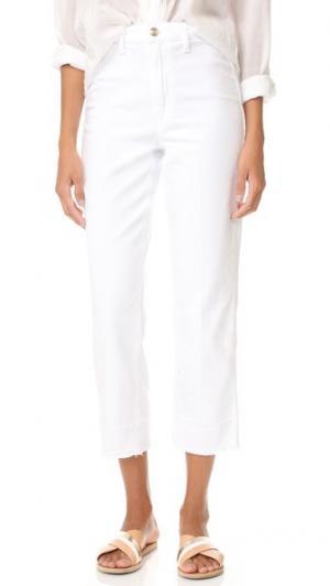 Прямые укороченные джинсы Jane с высокой посадкой Joe's Jeans. Цвет: оптический белый