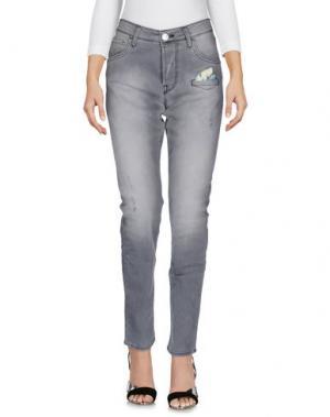 Джинсовые брюки SHAFT. Цвет: серый