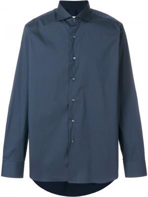 Классическая рубашка Alessandro Gherardi. Цвет: синий