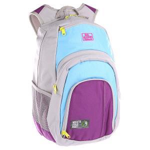 Рюкзак школьный  Campus Tubular Dakine. Цвет: серый,фиолетовый,голубой