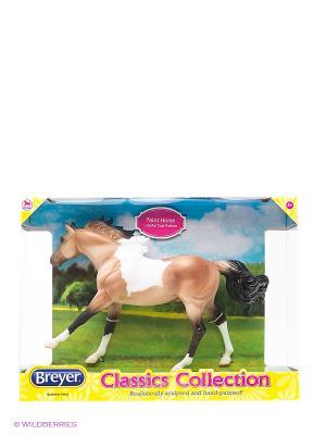 Лошадь пейнт буланый Breyer. Цвет: светло-коричневый, белый, черный