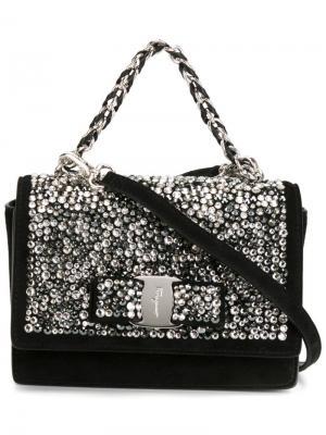 Декорированная сумка через плечо Ginny Salvatore Ferragamo. Цвет: чёрный