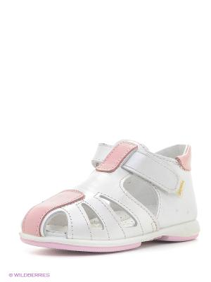 Босоножки Детский скороход. Цвет: розовый, белый
