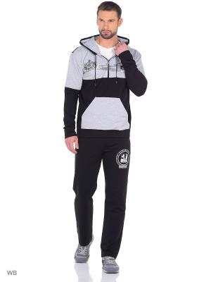 Спортивный костюм NAGOTEX. Цвет: серый, черный