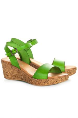 Босоножки MARIA BARCELO. Цвет: green