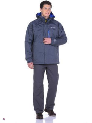Куртка Columbia. Цвет: серый, индиго