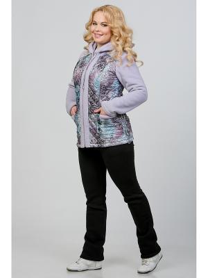 Куртка А Б Коллекция. Цвет: серо-голубой