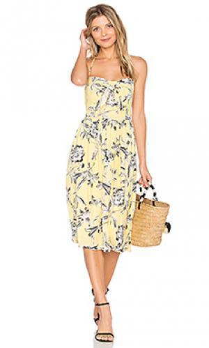 Платье joss BB Dakota. Цвет: желтый