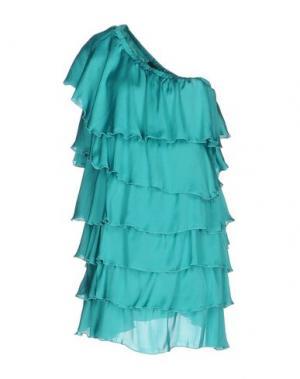 Короткое платье G.SEL. Цвет: бирюзовый