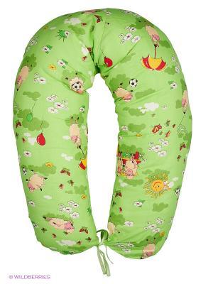 Подушка для беременных и кормящих ФЭСТ. Цвет: зеленый