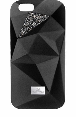 Чехол для iPhone 7 Facets с графичным принтом Swarovski. Цвет: черный