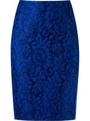 Lace pencil skirt Martha Medeiros. Цвет: синий