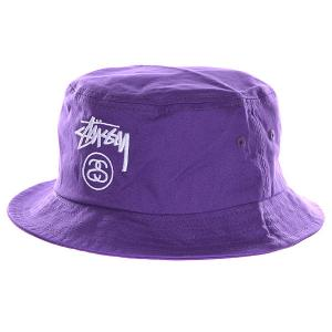 Панама  Stock Lock Bucket Hat Purple Stussy. Цвет: фиолетовый