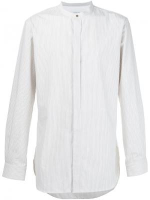 Рубашка с воротником-стойкой Lemaire. Цвет: белый