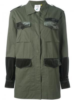 Куртка с карманами Steve J & Yoni P. Цвет: зелёный