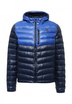 Куртка утепленная adidas Performance. Цвет: синий