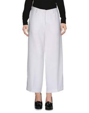Повседневные брюки KI6? WHO ARE YOU?. Цвет: белый