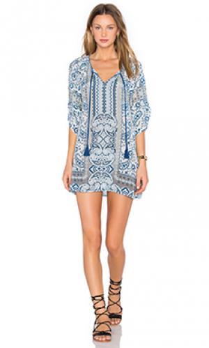 Платье sasha Tolani. Цвет: синий