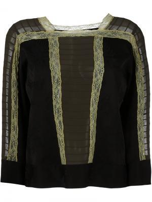 Блузка с кружевной отделкой Etro. Цвет: чёрный