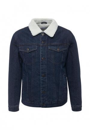 Куртка джинсовая Bellfield. Цвет: синий