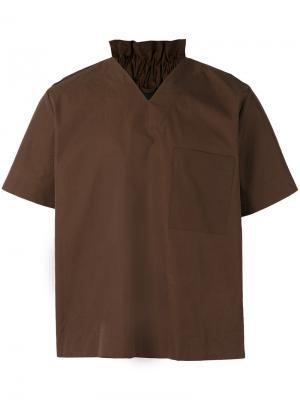 Рубашка с короткими рукавами Craig Green. Цвет: коричневый