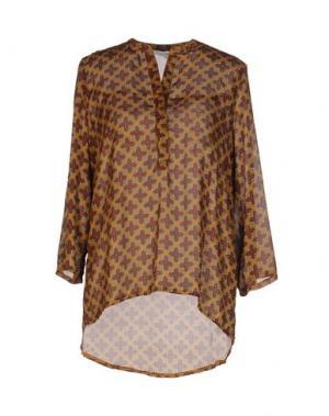 Блузка ANONYME DESIGNERS. Цвет: охра
