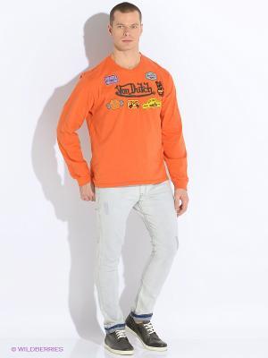 Лонгслив VON DUTCH. Цвет: оранжевый