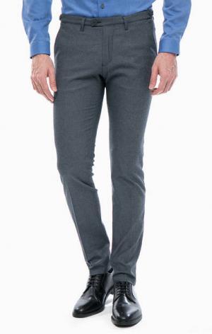 Серые хлопковые брюки DRYKORN. Цвет: серый