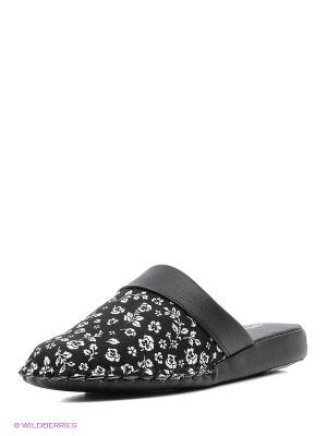 Тапочки Pansy. Цвет: черный