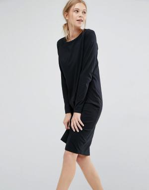 Dr Denim Трикотажное платье с длинными рукавами. Цвет: черный