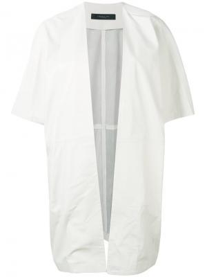 Куртка с короткими рукавами Federica Tosi. Цвет: белый